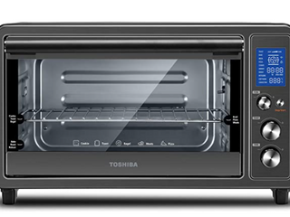 Toshiba Digital Toaster Oven With Double Infrared Black Stainless Steel