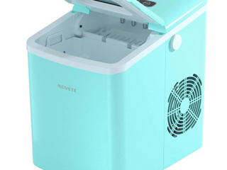 Novete Ice Maker   Portable and Automatic   Retro Style   Teal Blue