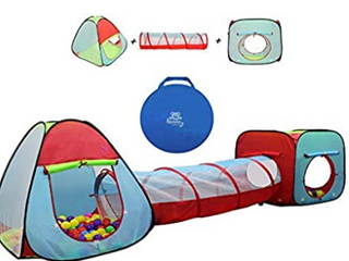 Kids tent and tunnel play set  3 tents and 3 tunnels