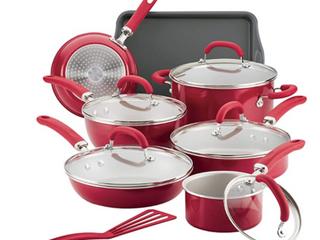 Rachael Ray Create Delicious Aluminum Nonstick 13 Pc  Cookware Set
