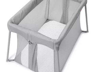 Skip Hop   Play To Night Expanding Travel Crib   Gray White