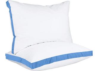 Utopia Bedding Gusset Pillow   Blue   Queen   Single Pillow ONlY