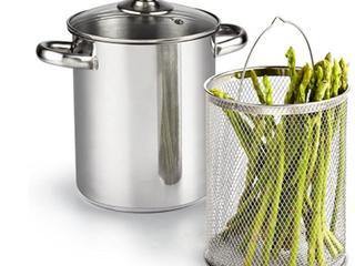 Cook N Home 4 Qt 3 Piece Vegetable Steamer Pot
