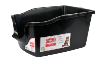 Natures Miracle   High Sided litter Box   Black