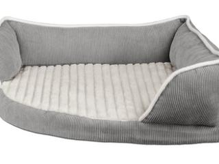 Gray Corner Dog Bed