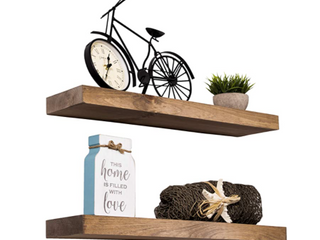 Imperative Decor Floating Special Walnut Shelves Set Of Two 24in x 5 5in