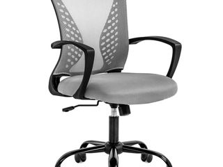Office Chair Ergonomic Desk Chair Mesh Computer Chair with lumbar Support Armrest Mid Back Rolling Swivel Task Adjustable Chair for Women Adults  Grey