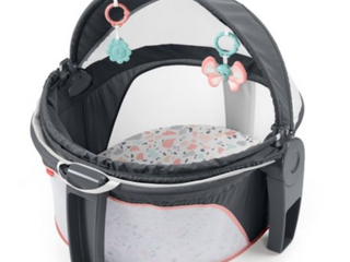 Fisher price On the go Baby Dome   Pink Pacific Pebble  Portable Infant Play Spa