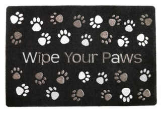 Wipe Your Paws Door Mat   Gray