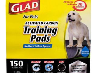 Glad for Pets Activated Carbon Training Pads For Dogs and Puppies  150 ct