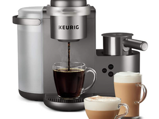 K cafe Special Edition Coffee Maker Single Serve K cup Pod Coffee Nickel Renewed