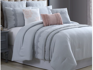 Pacific Coast Textiles 8 Piece Embroidered Comforter Set   Rivera King