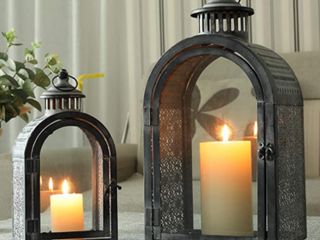 JHY Designs   Set of 2 Outdoor lantern Candle Holder