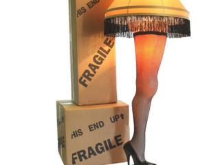 A Christmas Story leg lamp  Missing lamp Shade Bracket