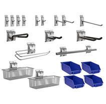 NewAge Products 20 Piece Steel Slatwall Accessory Kit