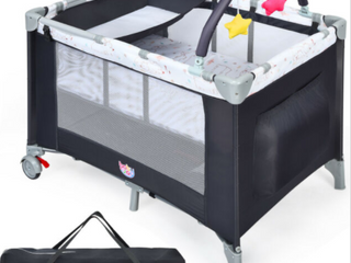 Pamo babe Play Pen With Bassinet