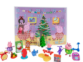 Peppa Pig Advent Calendar 24 piece Featuring Fun Characters Accessories