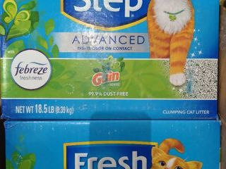 2x 18 5lbs Boxes Fresh Step Advanced Clumping Kitty litter