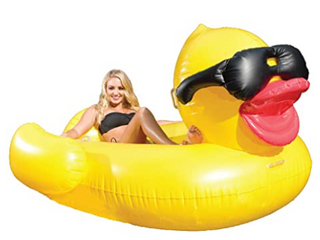 large Inflatable Duck Pool Float