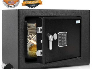 Serenelife SlSFE15   Electronic Home Safe   locking Safe Box with Mechanical Override  Includes Keys
