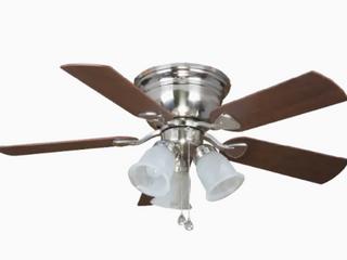 Ceiling Fan Brushed Nickel led Flush Mount light Kit  5 blade  Centreville 42