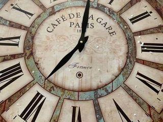 Cafe Dela Gare   Wooden Wall Clock