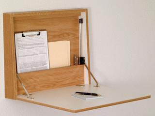 Wooden Mallet Fold Away Wall Desk  Oak