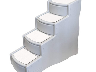Pet Stairs 4 step Small Cats   Dogs Portable lightweight Sturdy Wide Deep Steps