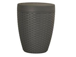 Superio Round Trash Can 6 5 Qt  Gray