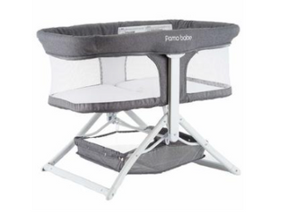 Pamo Baby Grey Quick Folding Portable Rocking Bassinet