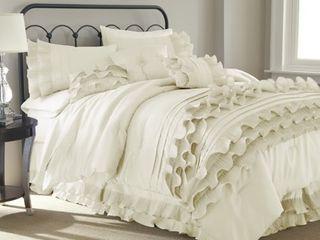 Anastacia 7 Piece Comforter Set   Platinum  King