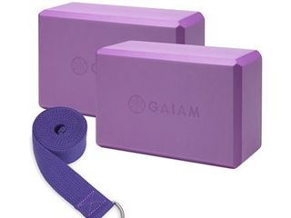 Gaiam 2 Pack Block Strap Combo Deep Purple  Missing Strap