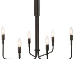 Black 6 light Candelabra