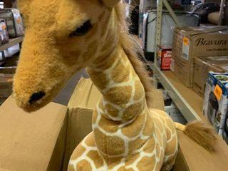 Freestanding large Giraffe Plush