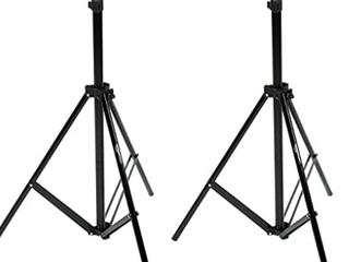 Amazonbasics Aluminum 2 13 M light Stand With Case   2 pack