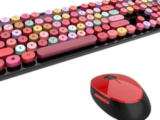 Double Typewriter Keyboard W  Round Keys