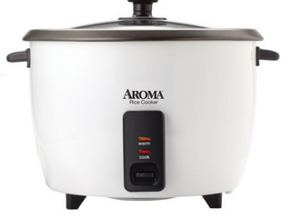 Aroma 32 Cup Dishwasher Safe Pot Style Cooker with lid  3 Piece  White
