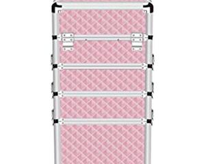 Makeup Case 4 in 1 Professional Folding Pink Diamonds