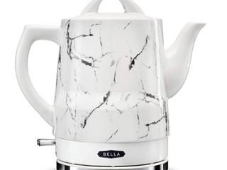 Bella 14743 1 5 liter Electric Tea Kettle  White Marble
