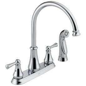 Delta Chrome High Arc Kitchen Faucet with Side Spray