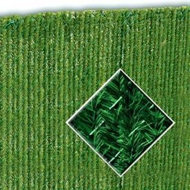 Pexco 6 in x 4 ft Green Chain link Fence Privacy Hedge