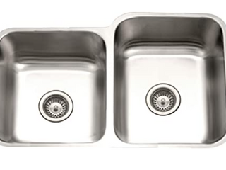 Houzer Stainless Steel Double Undermount Sink