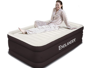 Englander Twin Double High Air bed   Brown