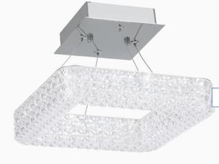 Allen   Roth   Semi Flushmount Ceiling Fixture   Chrome Finish Clear Acrylic Shade
