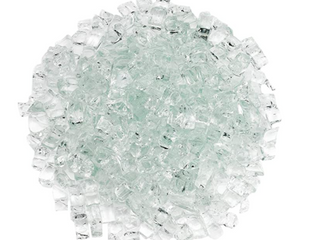 Bag of Fireplace Glass   Clear