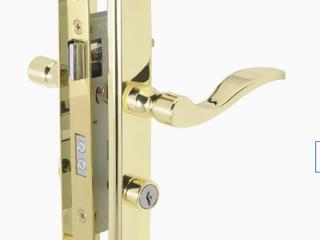 Wright Products   Brass locking Door Handle