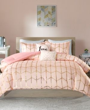 Blush Arielle Brushed Comforter Set  Full Queen  5pc