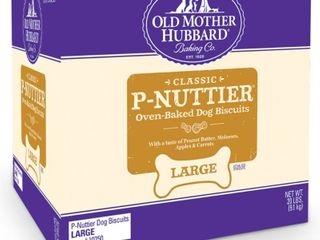 Old Mother Hubbard Classic Crunchy P Nuttier Biscuits large Oven Baked Dog Treats   20lb