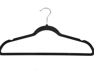 50 Non slip Black Coat Cloths Hangers Perfect For Any Types Of Clothes