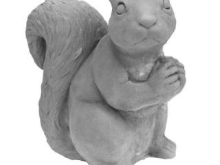 Squirrel Clay lawn Ornament   Gray